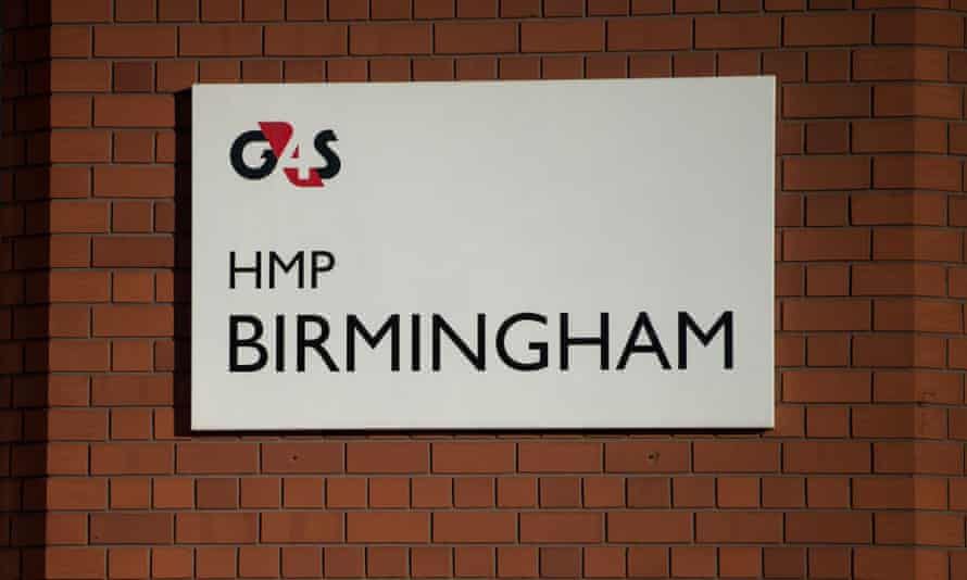 The sign for G4S HMP Birmingham at the entrance to the prison where prisoners rioted on December 17