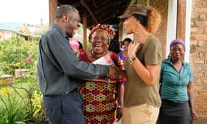 Dr Denis Mukwege, Christine Schuler Deschryver and Mama Bachu (center).