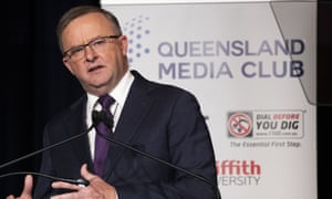 Anthony Albanese speaking in Queensland