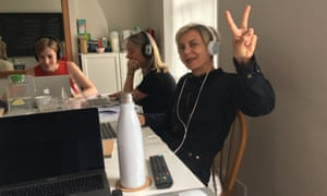 Miranda Sawyer at the Strange & Charmed audio school in Wendover, Buckinghamshire