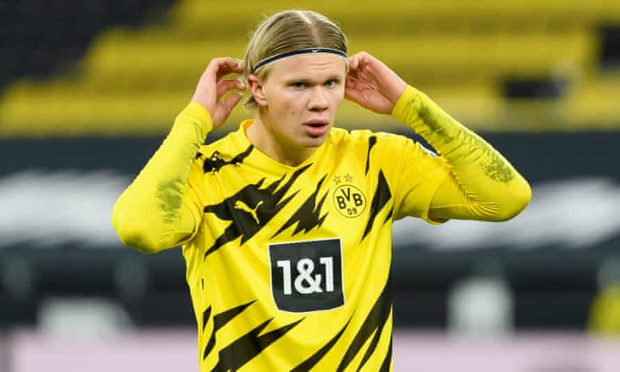 Erling Braut Haaland keeps his ears open for yet more rumours.