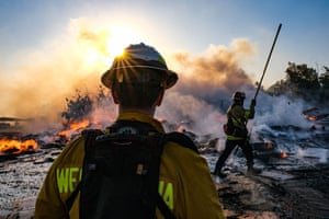 Firefighters are exposed to smoke and chemical vapors that can cause long-term health damage.