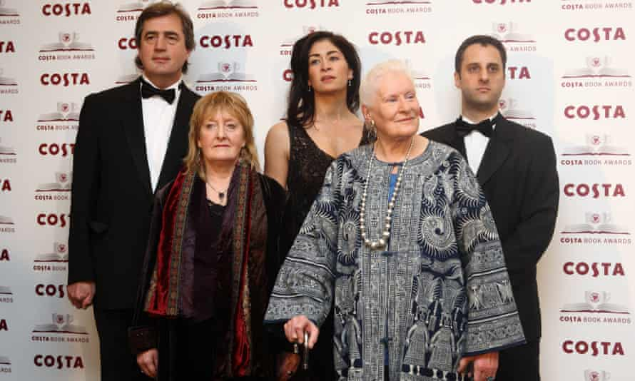 At the Costa awards in January 2009, with (from left) Sebastian Barry, Michelle Magorian, Sadie Jones and Adam Foulds.