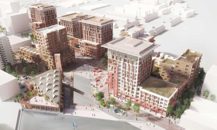 An artist's impression of the regeneration of the estate in Thamesmead