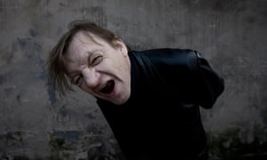 Mark E Smith, the Fall's lead singer, pulling a face