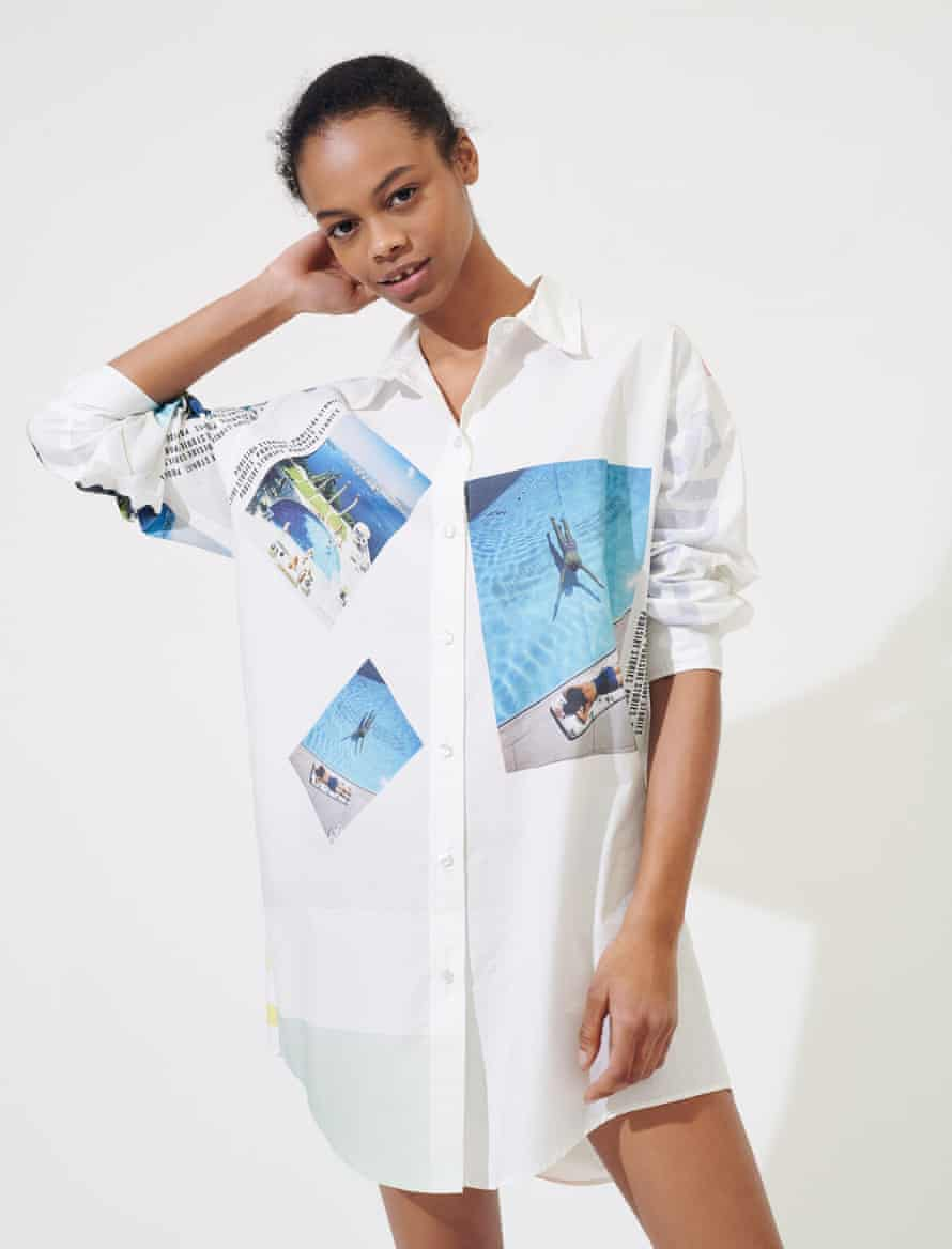 A shirt from Maje's Slim Aarons collection.