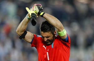 Defeat is hard to take for Gianluigi Buffon.