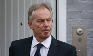 Tony Blair leaves his home in London.