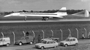 The British-French supersonic airliner Concorde prototype 001