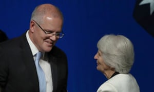 Scott Morrison and his mother, Marion.