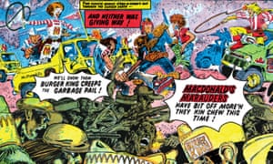 detail from one of the illustrations to Judge Dredd: The Cursed Earth