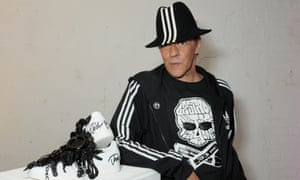 Judy Blame poses with his design at an auction in support of Stonewall in London in 2013.