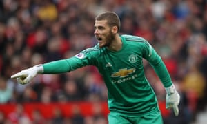 David de Gea is set to keep in place in goal, with backup keeper Sergio Romero injured.
