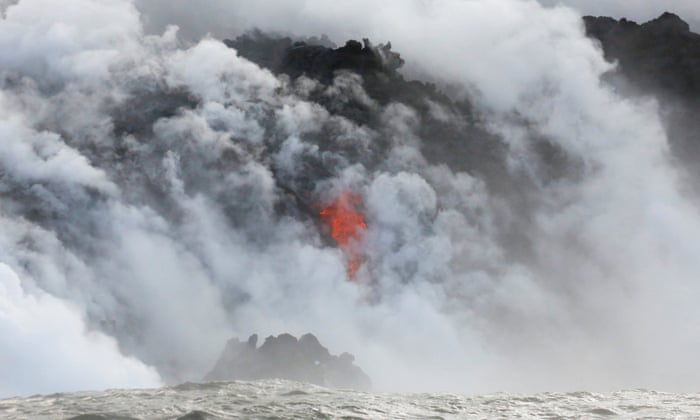 Hawaii volcano fills sky with acid plumes and glass shards as lava