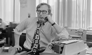 Seymour Hersh in the New York Times's Washington bureau, 1972.