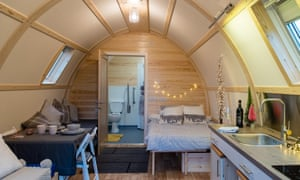 Accessible cabin at The Loft, Kinloss, Scotlland.