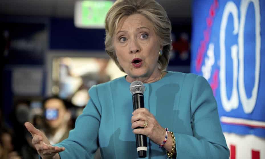 Hillary Clinton speaks in Seattle Friday.