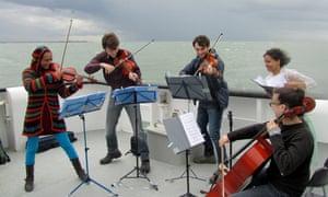 Ligeti Quartet perform Colloquy, a composition by William Frampton.