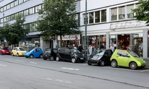 Electric cars parked Oslo Norway