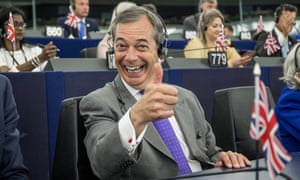 Nigel Farage in the European parliament in Strasbourg on Tuesday. He is among the parliament's highest earners.