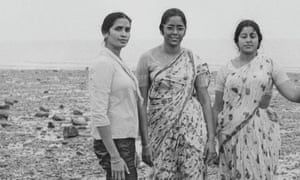 From left: Sheela Banerjee's mother Tripti, with her aunts Bhaiti and Apa on Sheerness beach, 1969.
