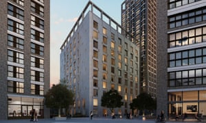 A view of Barratt's development at Aldgate Place in central London