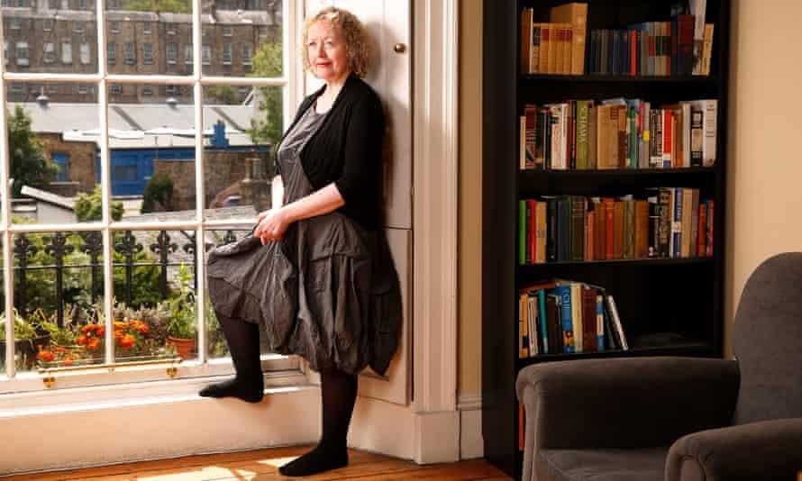 Novelist Lucy Ellmann at home in Edinburgh.