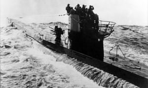 A U-boat in the Atlantic, May 1942.