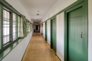 Corridor at the Winsford cottage hospital, Devon, UK