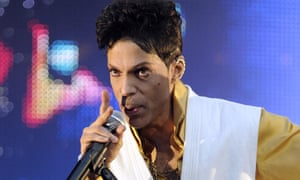 Prince, seen here during a different concert, had asked for concertgoers to wear grey.