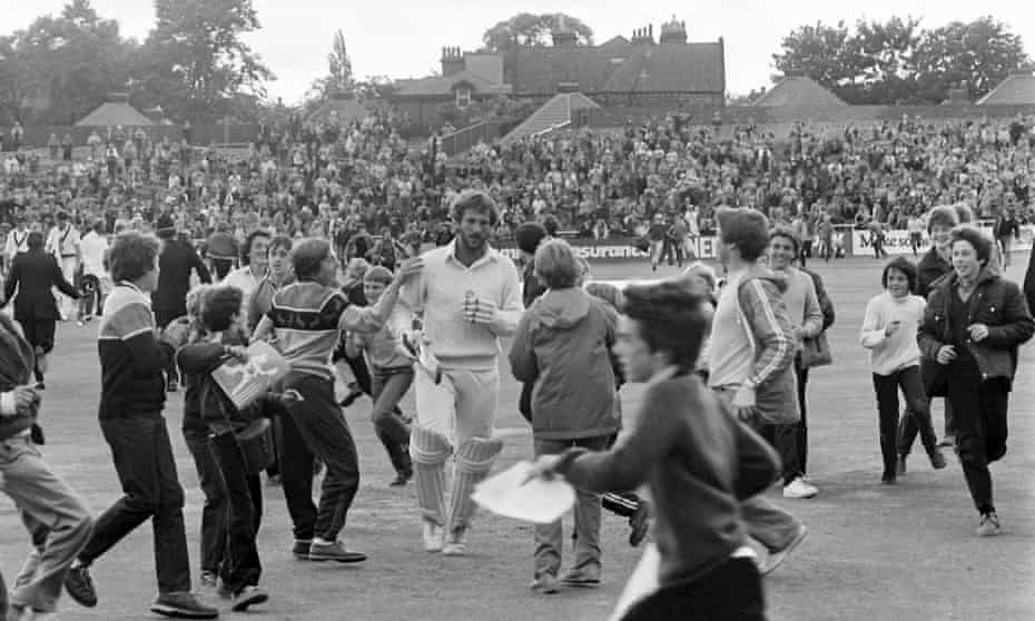 Ian Botham led England to an extraordinary victory against Australia in 1981.