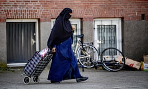 A woman wearing a niqab in Rotterdam