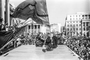 Reclaim The Streets at Trafalgar Square May (1997)