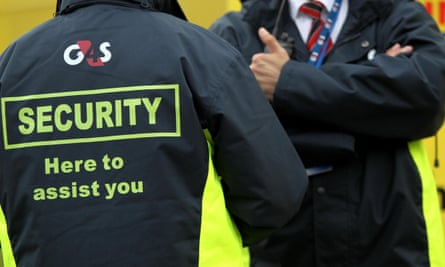 A G4S security workers
