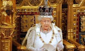 The Queen setting out the government's agenda for the coming parliamentary session