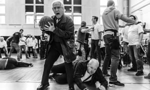 Graham Clark and Nicky Spence in rehearsal for From the House of the Dead at the Royal Opera House, London.
