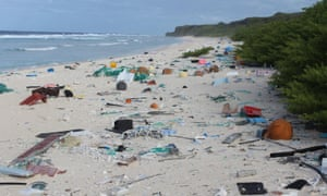 Plastic waste on Henderson Island in the south Pacific