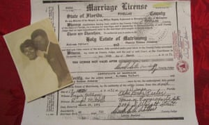 Sherry Johnson's marriage certificate.