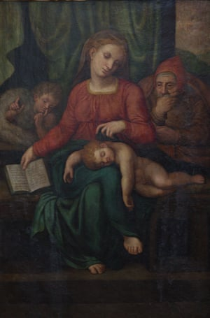 The 16th-century painting, known as the Holy Family.