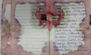 Rahami bloodied journal