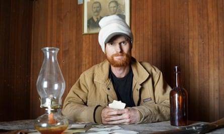Self portrait of Brent Underwood in his town of Cerro Gordo
