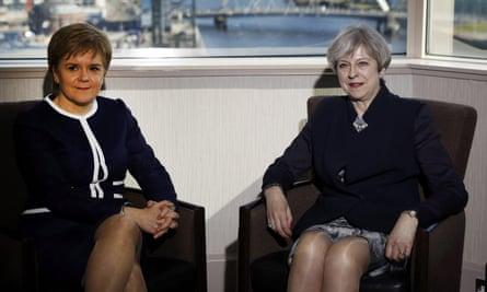 Theresa May meets Nicola Sturgeon.