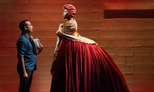 Slavery's legacy … Scott R Sheppard and Jennifer Kidwell in Underground Railroad Game, Edinburgh fringe 2018.