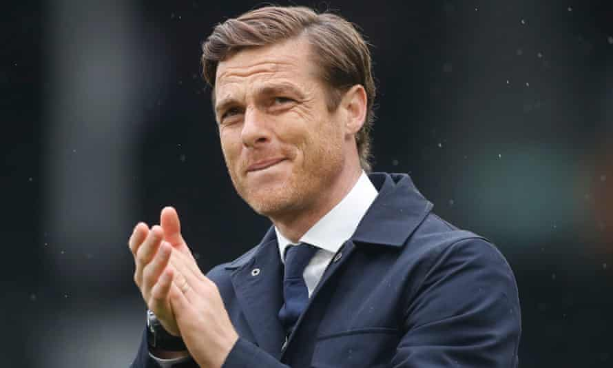Scott Parker applauds Fulham's fans after what is likely to have been his final match as manager.