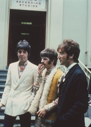 Paul McCartney, Ringo Starr and John Lennon at EMI Studios in Abbey Road, London, June 1967
