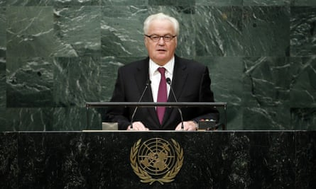 Vitaly Churkin, the Russian envoy, said the countries who beat Russia 'are not as exposed to the winds of international diplomacy'.