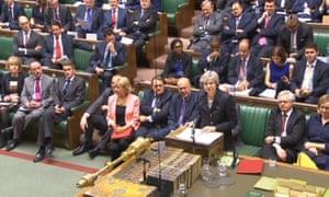 Theresa May addresses MPs