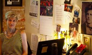 Ellie Covan in her domain, Dixon Place.