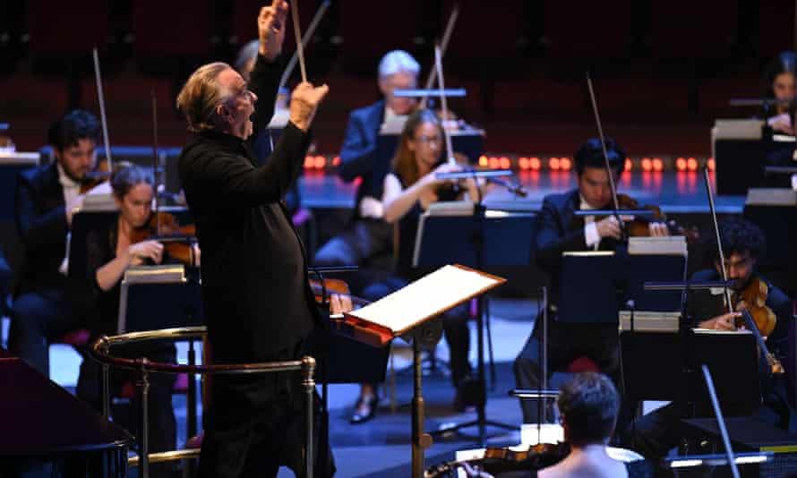 Charismatic … Mark Elder conducts the Hallé.