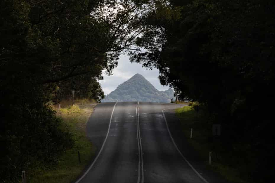 Mount Chincogan as seen from the community of Mullumbimby, NSW.